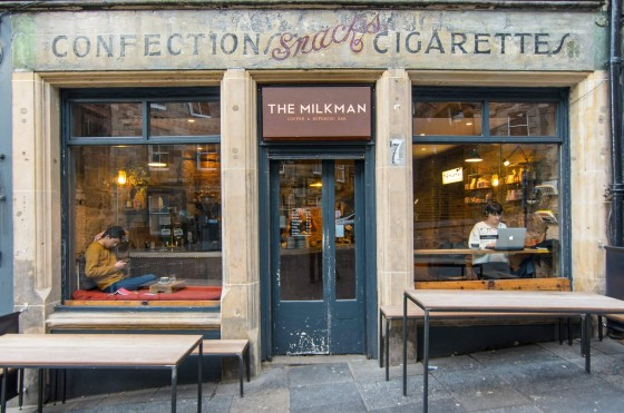 The shop front of The Milkman