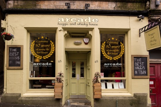The Arcade Haggis and Whisky House's front