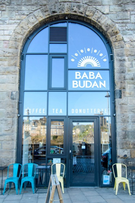 The high glass arch front of Baba Budan