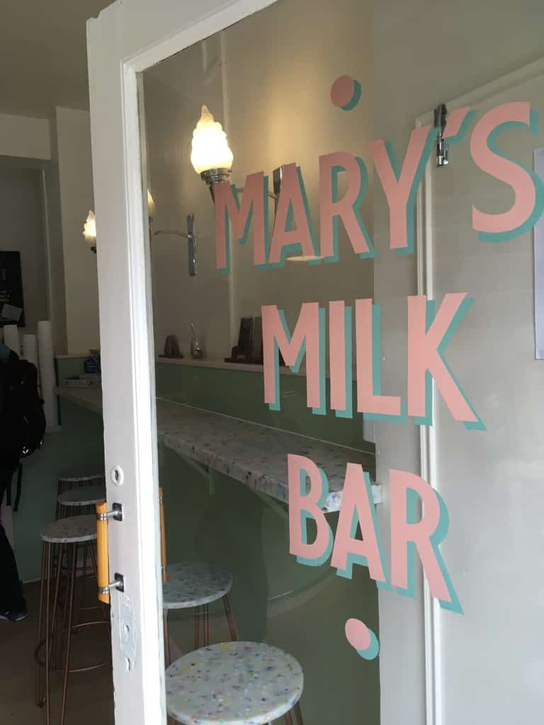 Mary's Milk Bar invites you in to taste the great handmade ice cream.